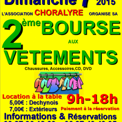 2ème BOURSE aux VÊTEMENTS DECHY 2015