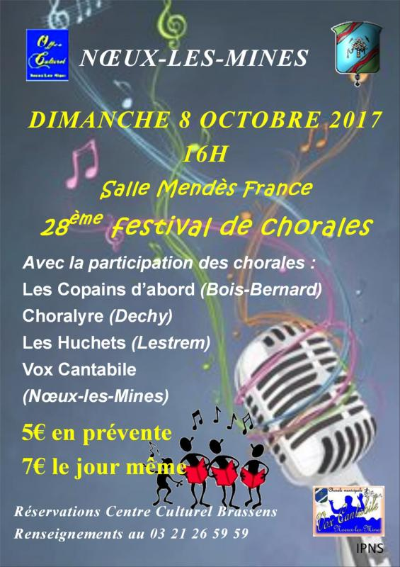 Affiche festival chorales
